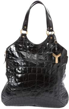 Saint Laurent Tribute leather tote - BLACK - STYLE