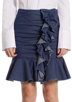 Caroline Constas Ruffled Mini Skirt