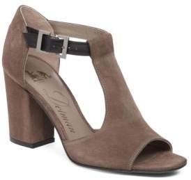 Delman Alfie Gryle Suede T-Strap Sandals