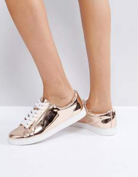Faith Rose Gold Lace Up Sneakers