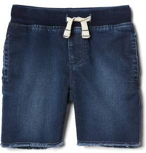 Gap Super soft denim jogger shorts