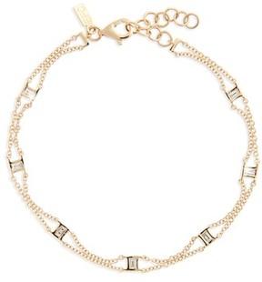 Ef Collection Women's Lucky 7 Baguette Chain Diamond Bracelet