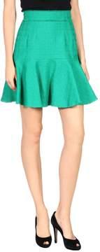 Green Knee length skirts