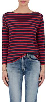 Saint Laurent Women's Breton-Striped Cotton Jersey T-Shirt