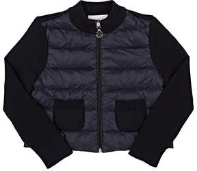 Moncler DOWN-QUILTED & COTTON SWEATER