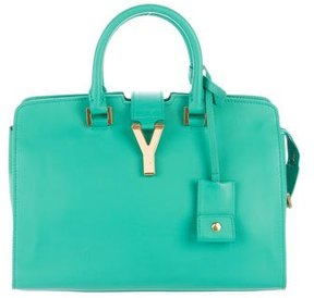 Saint Laurent Ligne Classic Y Leather Tote - GREEN - STYLE