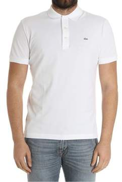 Lacoste Men's White Cotton Polo Shirt.