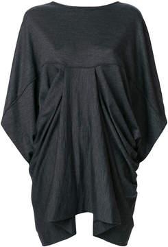Chalayan draped shoulder blouse