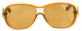 Bottega Veneta Square Gradient Sunglasses