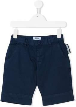 Moschino Kids logo tab chino shorts