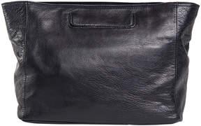 Christopher Kon Black Large Leather Crossbody Bag