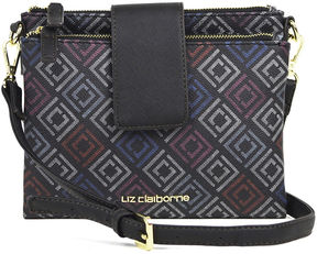 LIZ CLAIBORNE Liz Claiborne Double Top-Zip Crossbody Bag
