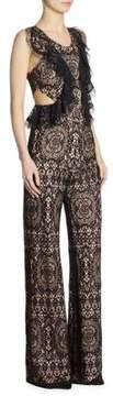 Alexis Anka Lace Ruffle Side Cutout Jumpsuit