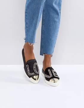 Miss KG Beaded 'LOVE' Satin Sneakers