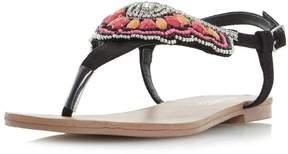 Head Over Heels *Head Over Heels by Dune Black 'Leia' Flat Sandals