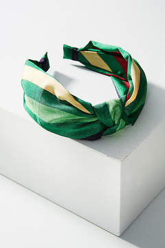 Anthropologie Preppy Striped Knot Headband