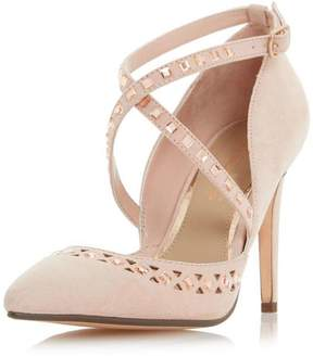 Head Over Heels *Head Over Heels by Dune Nude 'Cosmos' Mid Heel Court Shoes