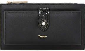 Dune Kallows flower trim faux-leather purse