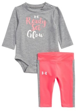 Under Armour Infant Girl's Ready Set Glow Bodysuit & Leggings Set