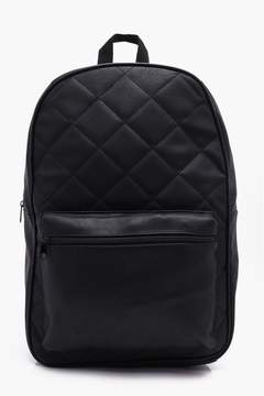boohoo Black Quilted Backpack