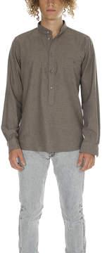 Richard James Fawn Lux Herringbone Shirt