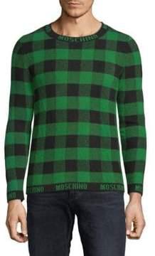 Moschino Virgin Wool Gingham Sweater