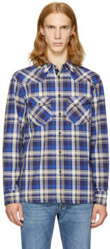 Rag & Bone Blue Plaid Walker Shirt