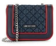 Love Moschino Mixed Media Mini Shoulder Bag