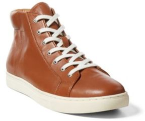 Ralph Lauren Dree Nappa High-Top Sneaker Cuoio 11.5