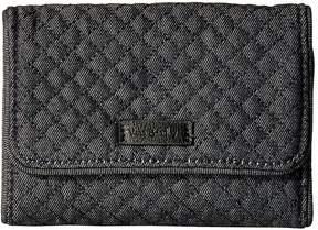 Vera Bradley Iconic RFID Riley Compact Wallet Wallet Handbags - DENIM NAVY - STYLE