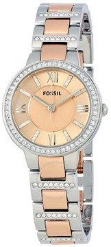 Fossil Virginia Rose Dial Two-tone Ladies Watch