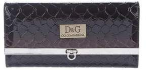 Dolce & Gabbana Embossed Patent Leather Wallet