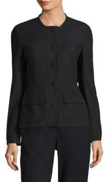 Escada Wool Button-Front Jacket