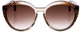 Bottega Veneta Tinted Round Sunglasses