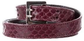 Carolina Herrera Snakeskin Waist Belt