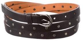 Miu Miu Leather Wrap Belt