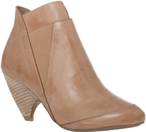 Max Studio Bach Waxed Leather Scooped Heel Booties