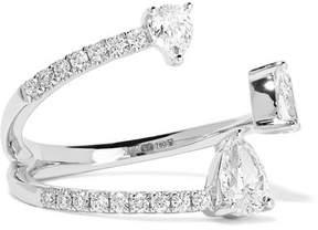 Anita Ko Pear Saturn 18-karat White Gold Diamond Ring