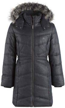 Calvin Klein Everest Puffer Jacket with Faux-Fur Trim, Big Girls (7-16)