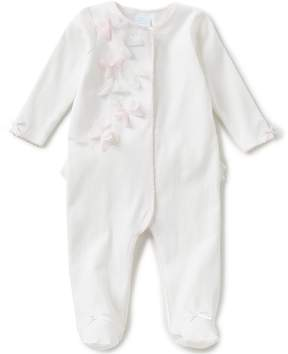 Edgehill Collection Baby Girls Newborn-6 Months Footed Coverall
