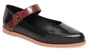 Melissa Women's Pointy Toe Mary Jane Flat
