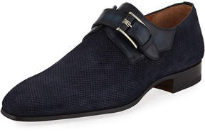 Magnanni Perforated Mixed Leather Loafer