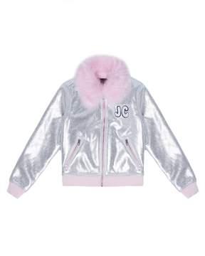 Juicy Couture Foil & Faux Fur Jacket for Girls