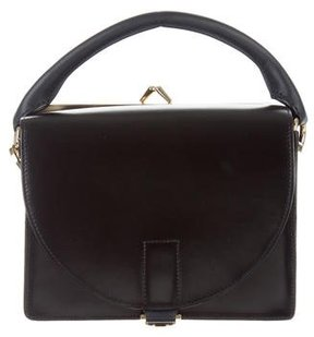 Sacai Suede-Trimmed Coin Purse Satchel
