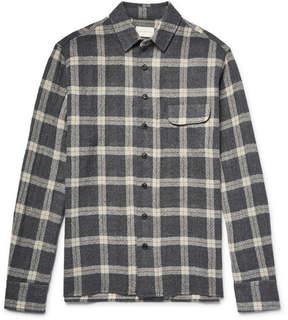 Simon Miller Slim-Fit Bexar Checked Wool-Gauze Shirt
