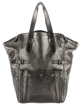 Saint Laurent Metallic Downtown Tote - METALLIC - STYLE