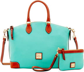 Dooney & Bourke Pebble Satchel & Medium Wristlet - AQUA - STYLE