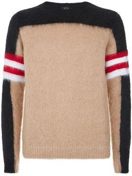 N°21 N 21 Colour Block Mohair Knit