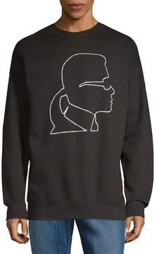 Karl Lagerfeld Men's Graphic Logo Sweatshirt