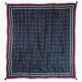 J.Crew Dot tassel woven scarf